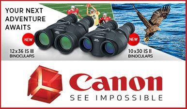 Canon 10x30 Is Ii 12x36 Is Iii Compact Binoculars With Improved