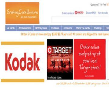 Kodak & Greeting Card Universal Offer Target Customers Same