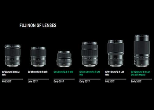 Fujifilm S Lineup Of Fujinon Gf Lenses Digital Imaging