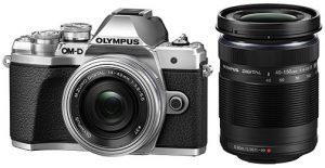 Olympus-OM-D-E-M10-Mark-III-silver-black-w-kitLens