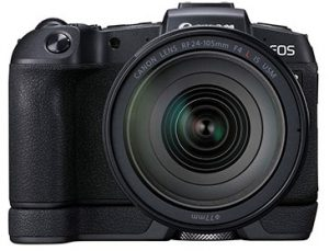 Canon EOS RP with-RF-24-105mm-F4-L-IS-USM-and-Battery-Grip—frnot