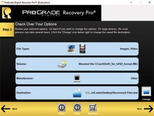 ProGrade Digital Recovery Pro 3-Step-Locations